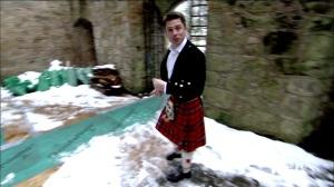JOhn Barrowman in a kilt
