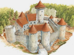 Artist's depiction of the completed Ozark Medieval Fortress, which was originally projected to be completed in 2030