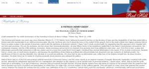 a patrick henry essay no the political legacy of patrick  a patrick henry essay no 5 98 the political legacy of patrick henry